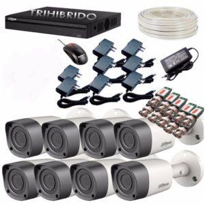 Combo Kit 8 Camaras De Seguridad Hd 1 Megapixel + Dvr De 8