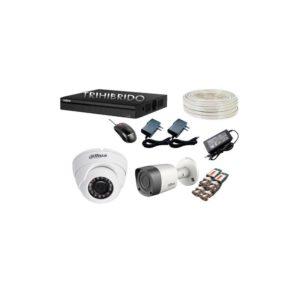 Cctv Kit De 2 Camaras De Seguridad Dahua 1 Megapixel 720p Hd