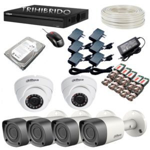 Cctv Kit De 6 Camaras De Seguridad Hd + Dvr De 8 + Disco
