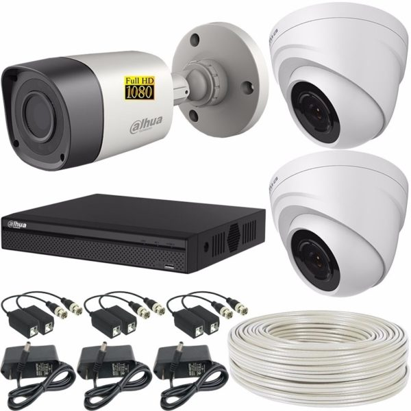 Combo Kit Camaras De Seguridad 2 Mp Dahua Full Hd+ Dvr 4 Ch