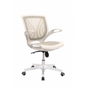 SILLA MARCO Y BASE BLANCO EN MALLA COLOR BLANCO