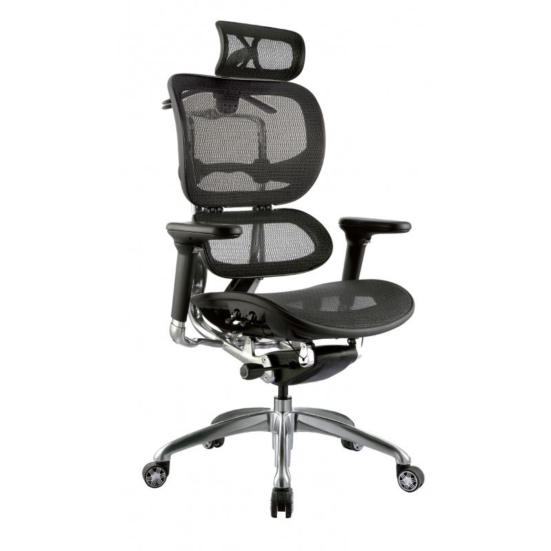 Silla de oficina gerencial alta ergohuman lujo marco negro for Sillas de oficina altas