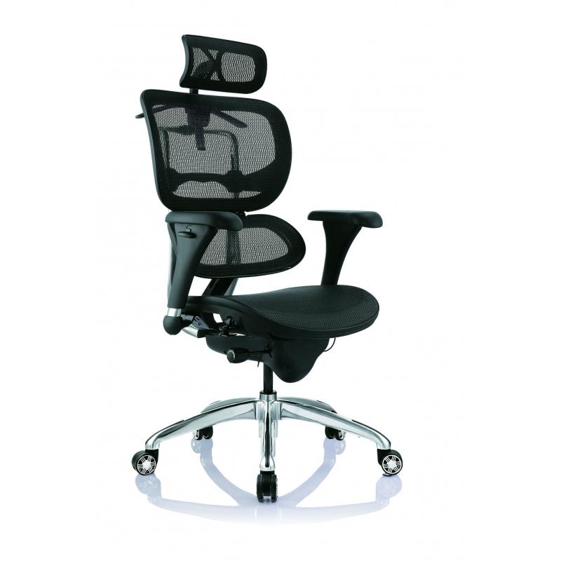Silla de oficina gerencial alta ergohuman eco marco gris for Sillas de oficina altas