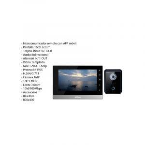KIT VIDEOPORTERO IP DE SOBRE PONER,DHI-VTKB-VTO6210B-VTH1510CH, dahua
