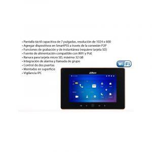 MONITOR LCD 7″ TÁCTIL,DHI-VTH5221DW, dahua