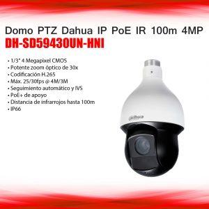 """DOMO PTZ IP EXTERIOR, 4MP,AUTO-TRACKING,1/3""""CMOS, DH-SD59430UN-HNI, metal"""