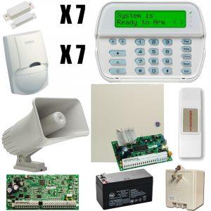 Kit De Alarma-alambrico C 7 Sensors Dscpower Series 16-64z
