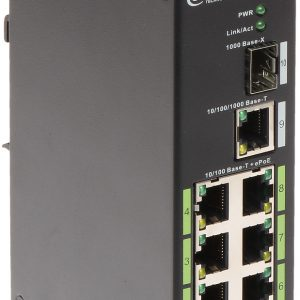 8 PUERTOS POE SWITCH,DH-LR2110-8ET-120, metal
