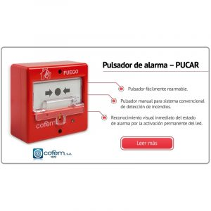 PULSADOR MANUAL DE ALARMA REARMABLE, PUCAY
