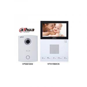 Kit Videoportero Analogo,DHI-VTK-VTO5000C-N-VTH1200DS, dahua