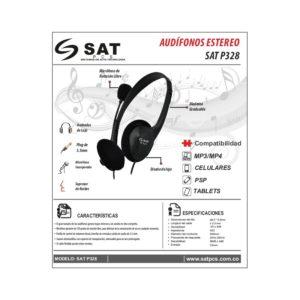 Audifonos Para Computador Sat P328