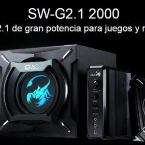 Teatro En Casa Parlantes Bafles Genius Sw-2.1 2000 Genius Con Iluminacion Led 45Watts