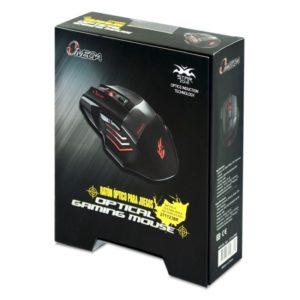 Mouse Gamer Omega Con iluminacion Led Rojo