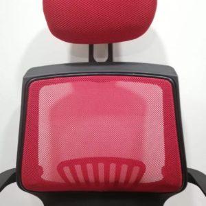 Silla De Malla Oficina Escritorio Computador Giratoria Roja