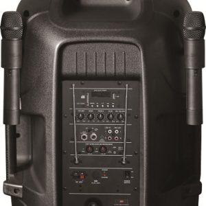 Cabina Parlante Dj Con 2 Microfonos Bluetooth 2000wats