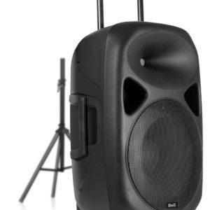 Cabina Parlante Dj Con Tripode Microfono Bluetooth 3000wats