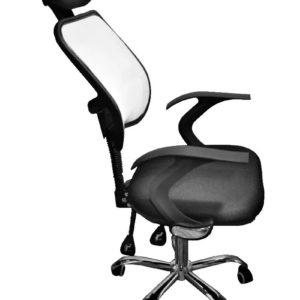Silla En Malla Con Soporte Para Cabeza Oficina Empresarial JYX-0158