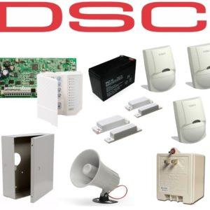 Kit De Alarma Dsc De 3 Sensores + 2 Contacto Completo