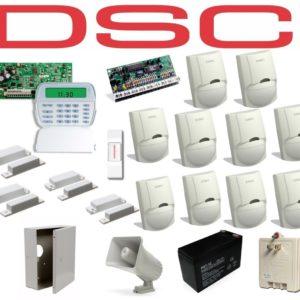 Kit De Alarma Dsc De 10 Sensores + 4 Contactos Completo