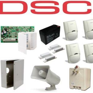 Kit De Alarma Dsc De 4 Sensores + 2 Contactos Magneticos