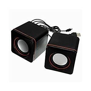 Parlantes Bafles Usb Para Pc 2.1 Con 6 Watts Rojos Jeway