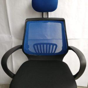 Silla De Malla Oficina Escritorio Computador Giratoria Azul