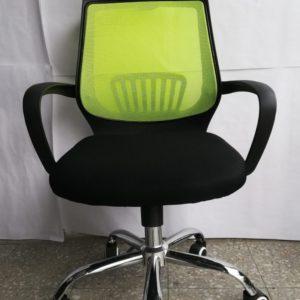 Silla De Malla Oficina Escritorio Computador Giratoria Verde