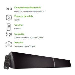 Teatro En Casa Parlantes Bafles Para Tv Bluetooth 120 Watts