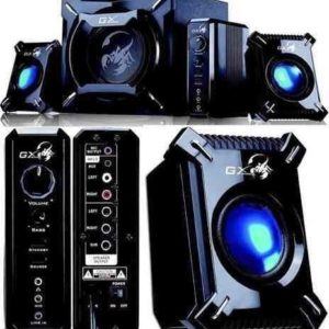 Teatro En Casa Parlantes Gamer Led Genius 2.1 2000 45 Watts