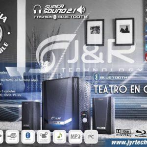 Teatro En Casa Parlantes Para Tv 2.1 80 Wats Bluetooth