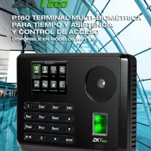 Terminal Biométrica de Palma y Huella Digital para Gestión de Asistencia y Control de Acceso  P160