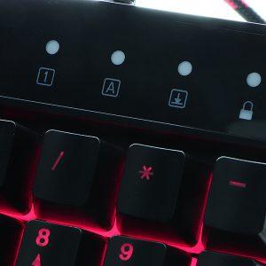 Teclado Tipo Gamer Cableado Con Iluminación para oficina, video juegos, etc