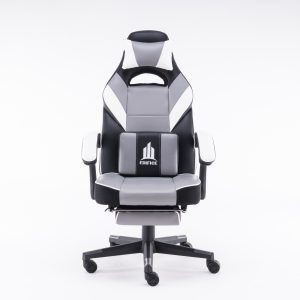 Silla Gamer Gaming Negra Reclinable Giratoria Oficina Blanca lk-2305