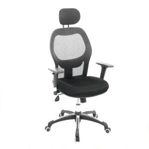 silla ejecutiva ergonomica para oficina con 4 bloqueos del espaldar segun la posición