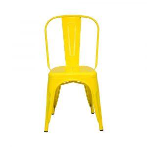 Silla De Comedor O Restaurante Metal Color Amarillo Tolix