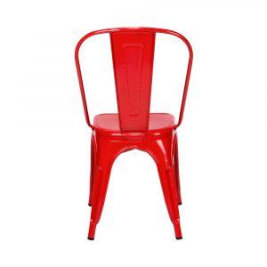Silla De Comedor O Restaurante Metal Colore Rojo Tolix
