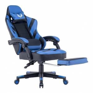 Silla Gamer Gaming Juegos Azul LK-2367 Oficina Descansapies Venom